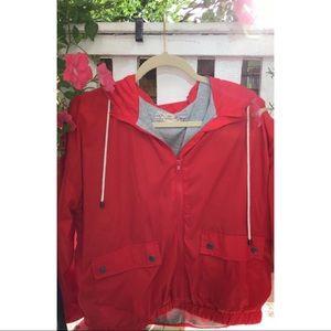 Red Windbreaker